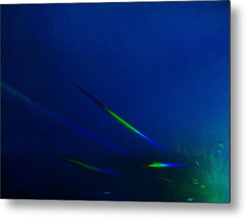 Under Deep See Fish Metal Print featuring the mixed media Blue Waters by Nereida Slesarchik Cedeno Wilcoxon