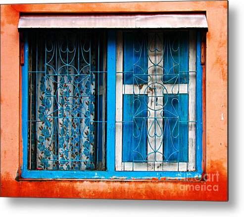 Window Metal Print featuring the photograph Blue Window by Derek Selander