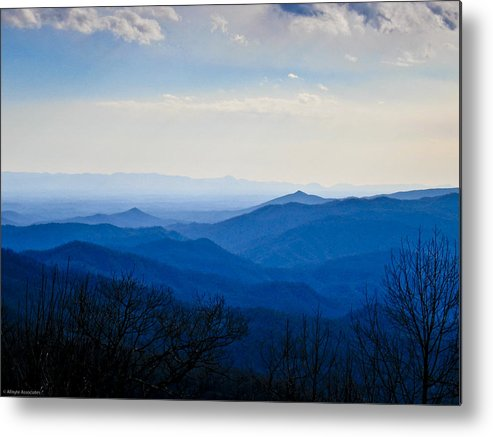 Landscape Metal Print featuring the photograph Blueridge by Ches Black
