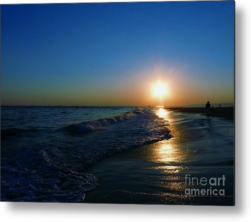 Landscape Metal Print featuring the photograph Blues In The Evening by Kendall Eutemey