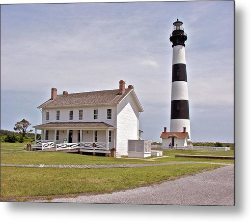 Bodie Lighthouse Metal Print featuring the photograph Bodie Lighthouse Nags Head Nc by Brett Winn