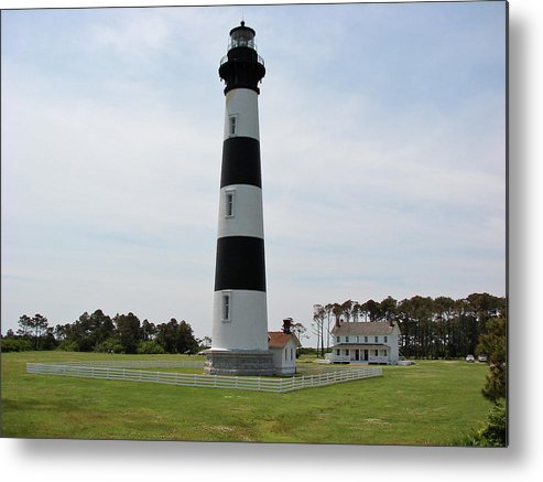 Bodie Lighthouse Metal Print featuring the photograph Bodie Lighthouse Nags Head Nc V by Brett Winn