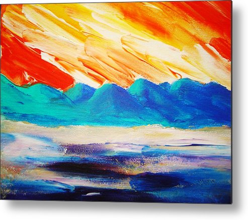 Bright Metal Print featuring the painting Bold Day by Melinda Etzold