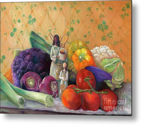 Still Life Metal Print featuring the painting Bountiful by Marlene Book