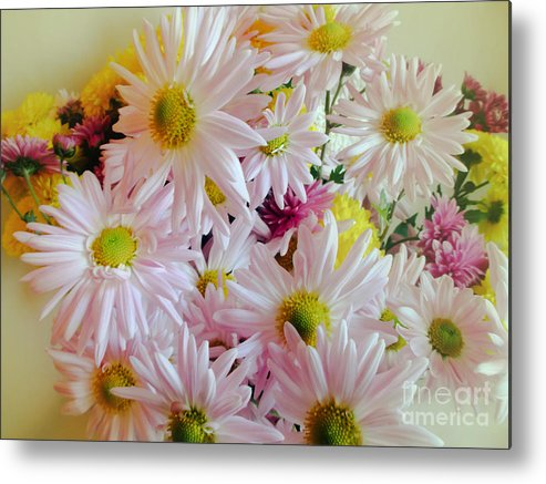 Daisy Metal Print featuring the photograph Bouquet Of Daisies by Julia Gogol