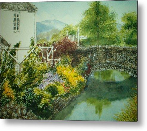 Landscape Metal Print featuring the painting Braithwaite Bridge by Shirley Braithwaite Hunt
