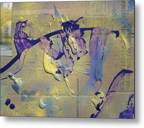Abstract Metal Print featuring the painting Bridge Of Old Hag Troll by Bruce Combs - REACH BEYOND