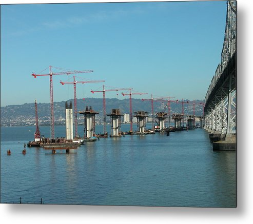 Water Metal Print featuring the photograph Bridge Progression by Jerry Patchin