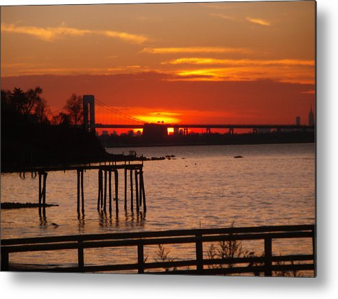 Photography Metal Print featuring the photograph Bridge Sunset by Bill Ades