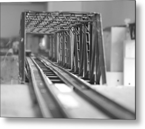 Models Metal Print featuring the photograph Bridge To Jerry Town by Margaret Fortunato