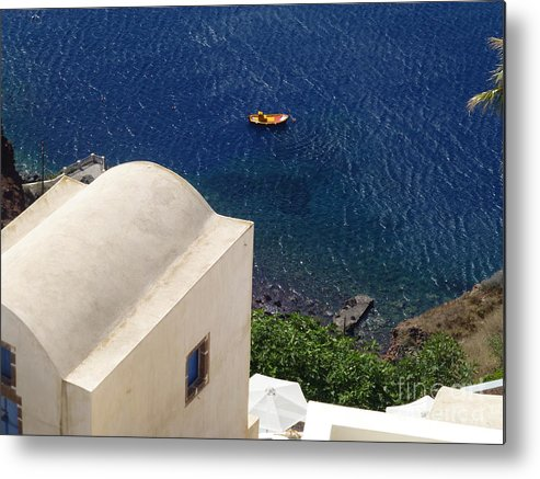 Santorini Metal Print featuring the photograph Bright Spot by Maxine Kamin