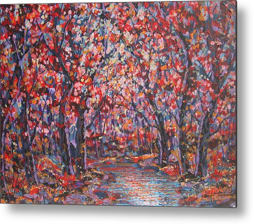 Forest Metal Print featuring the painting Brilliant Autumn. by Leonard Holland