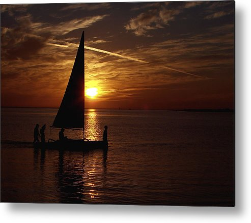 Waterscapes Metal Print featuring the photograph Bringing The Boat Home by Johann Todesengel