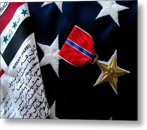 Bronze Metal Print featuring the photograph Bronze Star by Gene Sizemore
