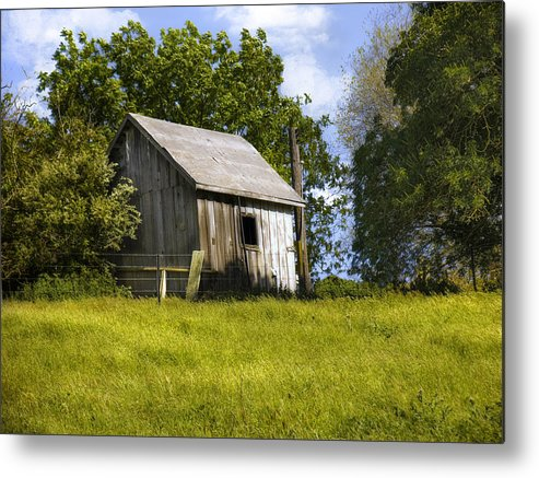 Landscape Metal Print featuring the photograph Brushy Peak Cabin by Karen W Meyer