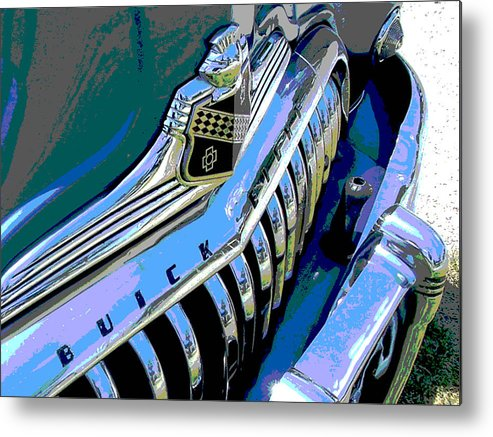 Car Metal Print featuring the photograph Buick Eight by Audrey Venute