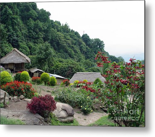 Burma Metal Print featuring the photograph Burma Village Home by John Johnson