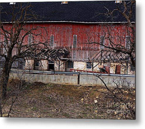 Barns Metal Print featuring the photograph Busted by Teresa Hayes