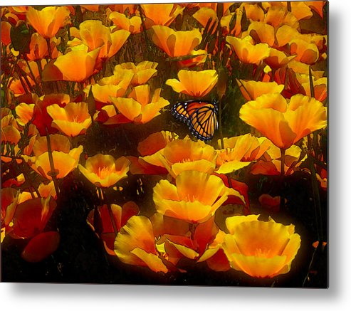 Butterfly Effect Metal Print featuring the painting Butterfly Effect by Robby Donaghey
