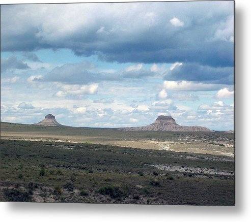 Big Sky Metal Print featuring the photograph Buttes by Margaret Fortunato