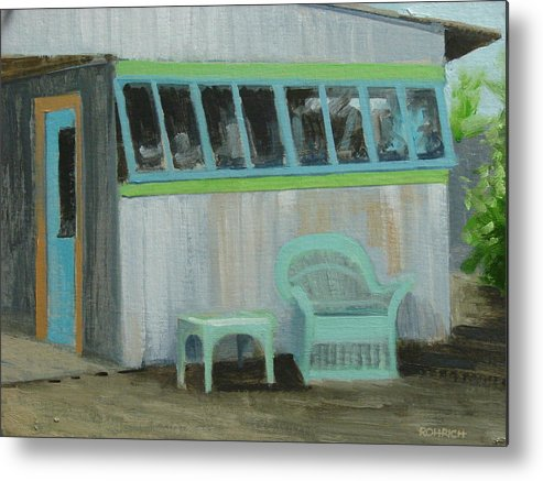 Old Building Metal Print featuring the painting Bygone Days by Robert Rohrich