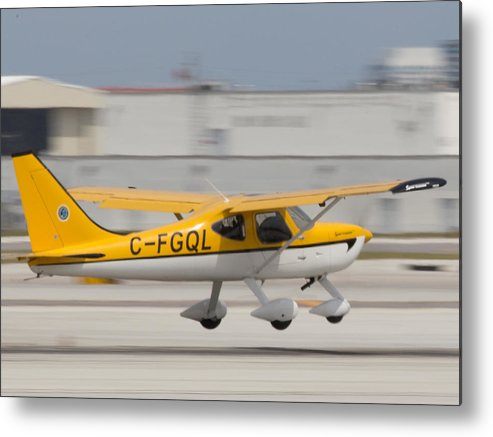 C-fgql Aircraft Metal Print featuring the photograph C-fgql Aircraft by Dart and Suze Humeston
