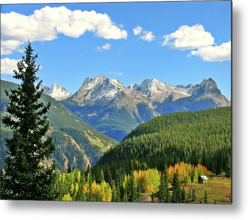 Cabin Metal Print featuring the photograph Cabin In The San Juans by Scott Mahon