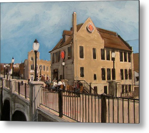Milwaukee Metal Print featuring the mixed media Cafe Hollander 2 by Anita Burgermeister