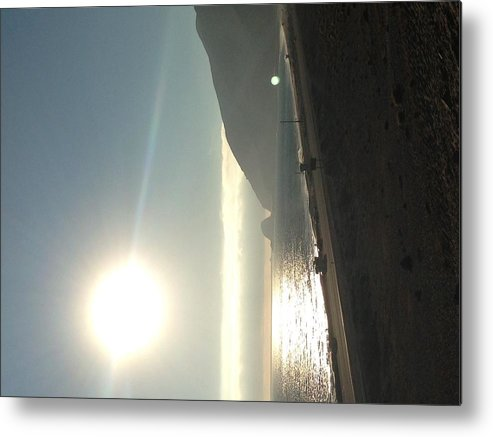 California Pacific Coast Highway Sunset On The Beach Metal Print featuring the photograph California Pacific Coast Highway by Sandy Bloom
