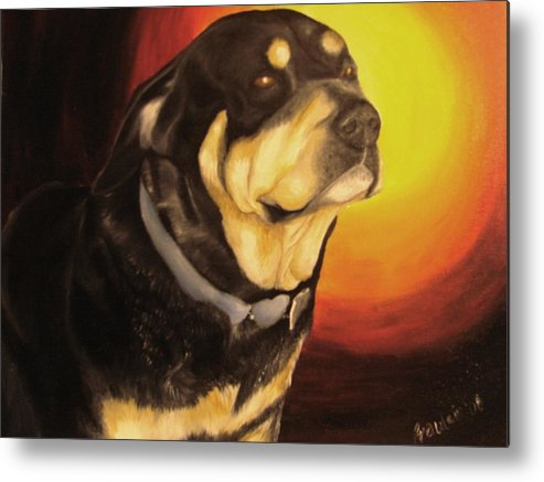 Paintings Metal Print featuring the painting Canine Vision by Glory Fraulein Wolfe