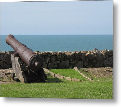 Old Cannon Metal Print featuring the photograph Cannon by Andre Panatto