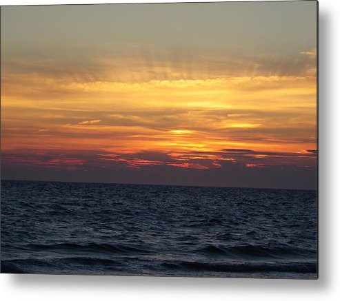 Seascape Metal Print featuring the photograph Cape Cod Sunset by Charleen Treasures