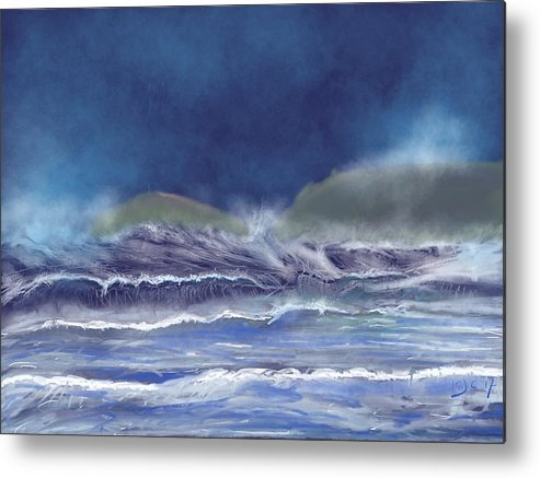 The Cape From Sennan Cove Metal Print featuring the digital art Cape Cornwall by Kevin Collins
