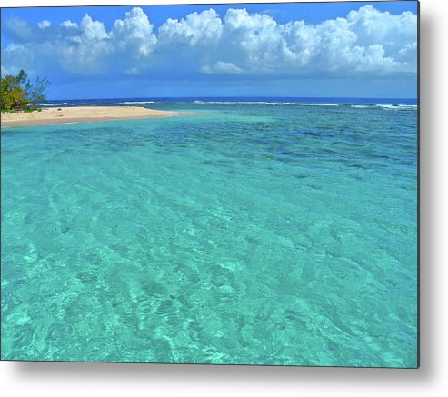 Water Metal Print featuring the photograph Caribbean Water by Scott Mahon