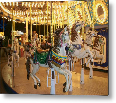 Carousel Horse Metal Print featuring the photograph Carousel Horse 4 by Anita Burgermeister