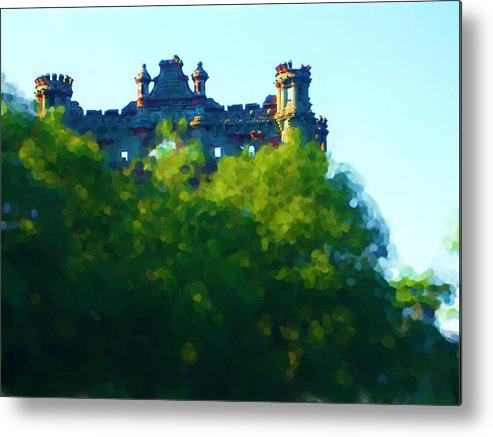 Metal Print featuring the painting Castle In The Sky   Going Home by Jonathan Galente