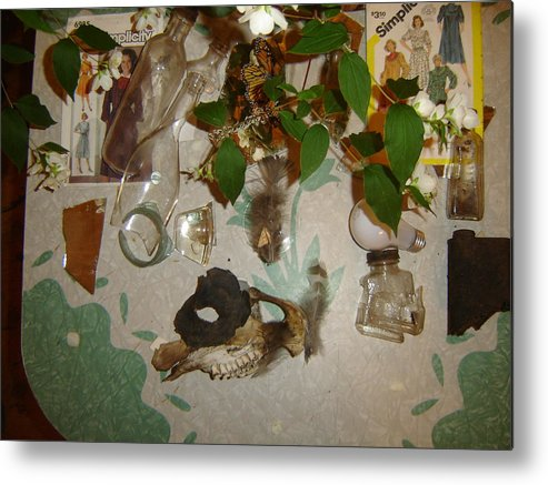Still Life Metal Print featuring the photograph Caught In An Eddy by Dean Corbin