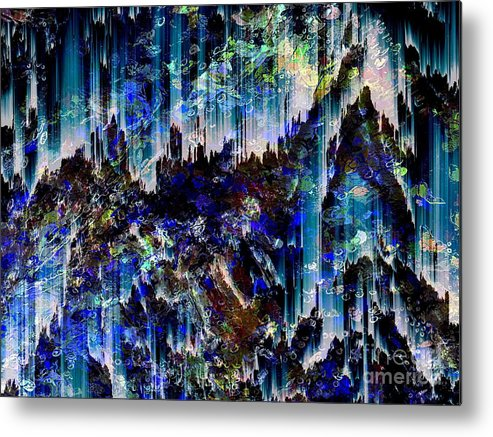 Abstract Metal Print featuring the digital art Cavern by Cooky Goldblatt