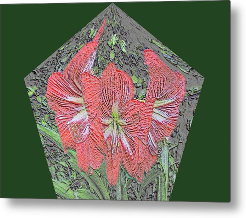 Amaryllis Metal Print featuring the digital art Chalk It Up Pentagon by Marian Bell