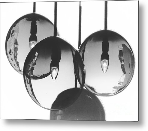 Black Metal Print featuring the photograph Chandelier by Diana Rajala