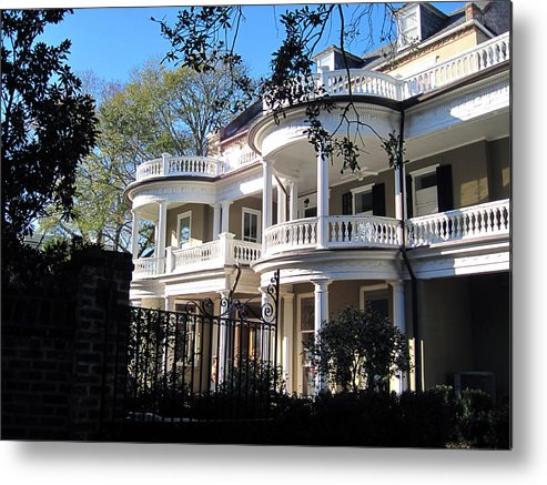 Photography Metal Print featuring the photograph Charlestons Beautiful Architecure by Susanne Van Hulst