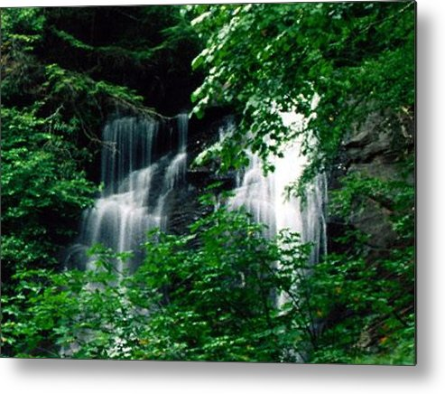 Landscape Metal Print featuring the photograph Chattahoochee Waterfall by Vicky Brago-Mitchell