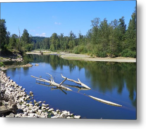 Digital Photography Metal Print featuring the photograph Chehalis River Washington by Laurie Kidd