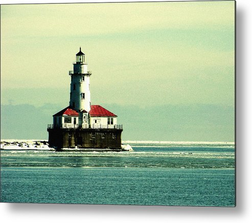 Harbor Lighthouse Metal Print featuring the photograph Chicago Harbor Lighthouse by Kyle Hanson