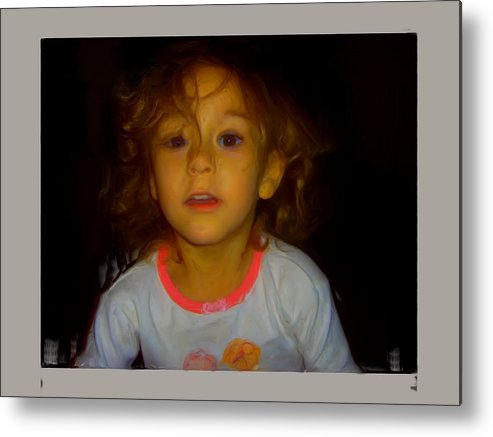 Child Metal Print featuring the painting Child Of Mine by Maribel McIntosh