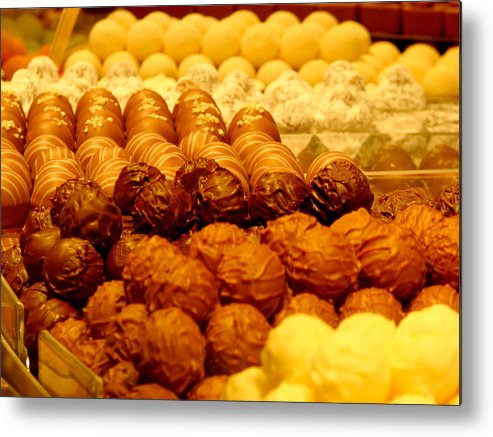 Truffles Metal Print featuring the photograph Chocolate by Andrea Arnold