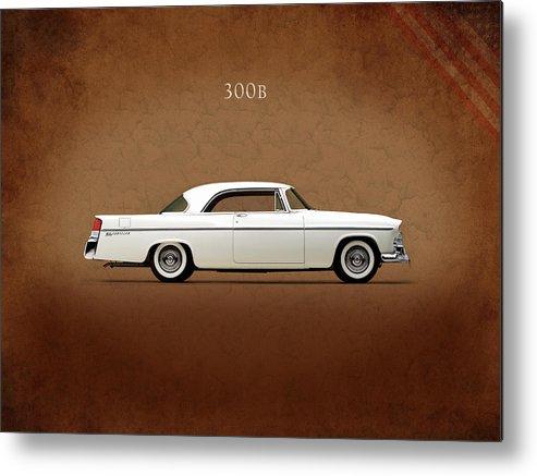 Chrysler 300 Metal Print featuring the photograph Chrysler 300b 1956 by Mark Rogan