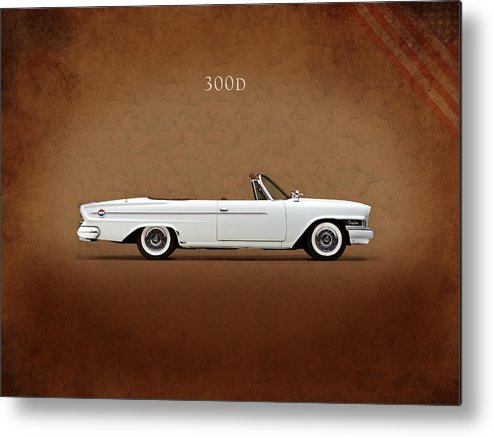 Chrysler 300 Metal Print featuring the photograph Chrysler 300d 1962 by Mark Rogan