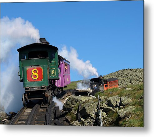 Trains Metal Print featuring the photograph Chugging Up by Peter Gray