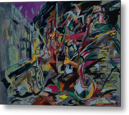 Fantasy Metal Print featuring the painting Circus In The Town by Tadeush Zhakhovskyy